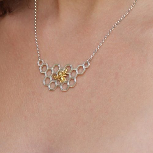 Bee necklace close up